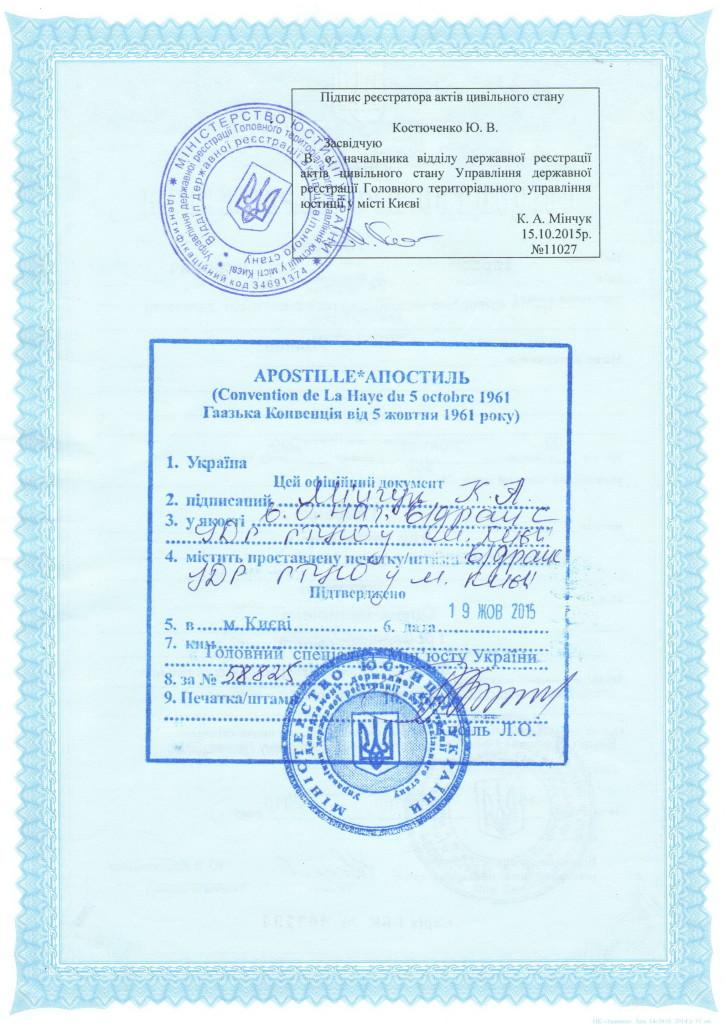 Свидетельство о рождении Украина2
